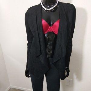 I.N.C Black Suede Blazer Size Medium WT-2